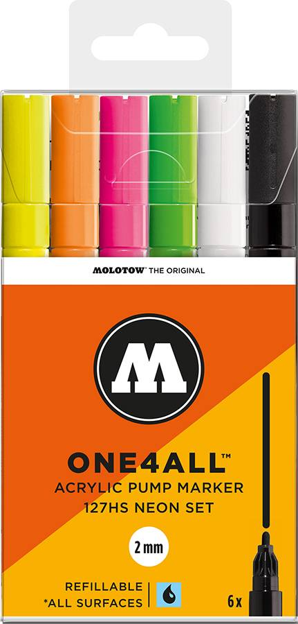 Molotow-ONE4ALL-2mm-Malset-6-Stifte-Neonfarben