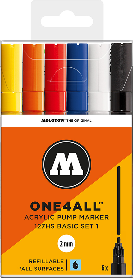 Molotow-ONE4ALL-2mm-Malset-6-Stifte-Basisset 1
