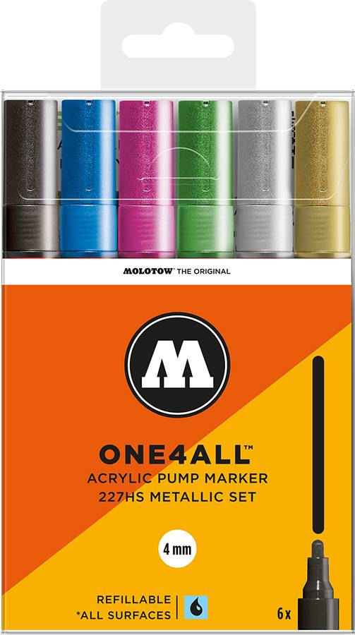 Molotow-ONE4ALL-4mm-Malset-6-Stifte-Metallic-Set