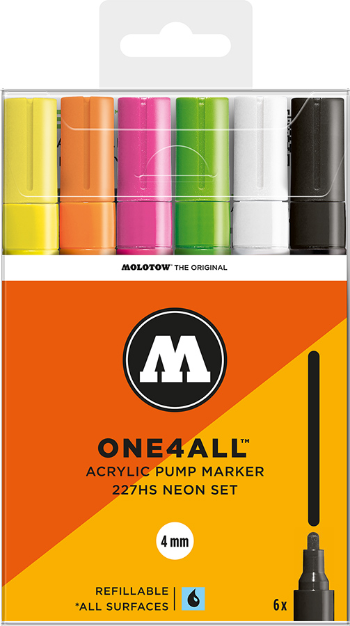 Molotow-ONE4ALL-4mm-Malset-6-Stifte-Neonset